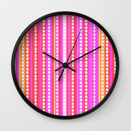 Fuschia Stripes Wall Clock