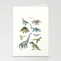 dinosaurs Stationery Cards featuring Dinosaurs by Amy Hamilton