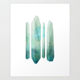 Blue Crystals #2 Art Print