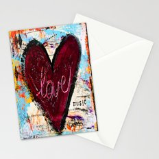 Love the Music Stationery Cards