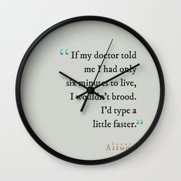 Type a Little Faster Wall Clock