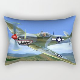 Spitfire Soars Over Hawaii Rectangular Pillow