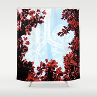 lungs Shower Curtains featuring Lungs by Keka Delso