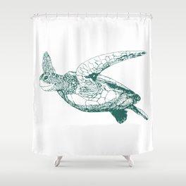 Kemp's Ridley Sea Turtle Shower Curtain