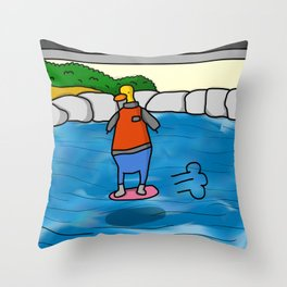 Duck to the Future Throw Pillow