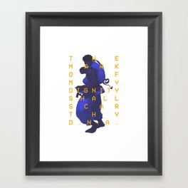 The Mark of My Dignity Framed Art Print