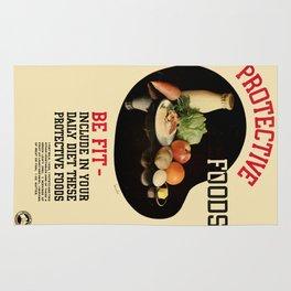 Vintage poster - Protective Foods Rug