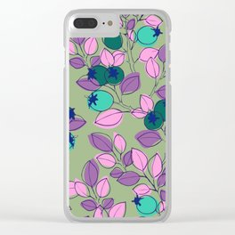 Purple Rosehips Clear iPhone Case