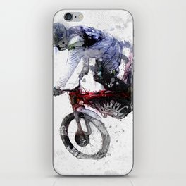 Nose Stand - Motocross Move iPhone Skin