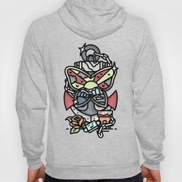 anchor and buttefly Hoody