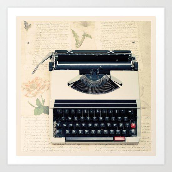 Typewriter (Retro and Vintage Still Life Photography) Art Print