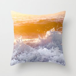 Orange Sunrise Splash Throw Pillow