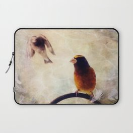 Evening Grosbeaks Laptop Sleeve