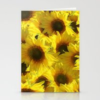 sunflowers Stationery Cards featuring Sunflowers by LLL Creations