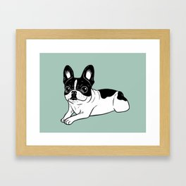 Double Hooded Pied Frenchie Framed Art Print