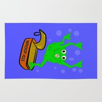 frog Area & Throw Rugs featuring Frog by mailboxdisco