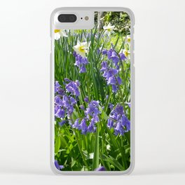 SPRING FLOWERS IN A COTTAGE GARDEN CORNWALL Clear iPhone Case