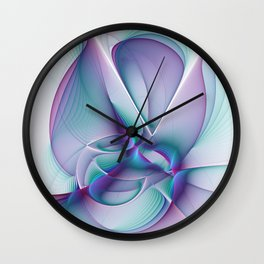 A Colorful Beauty, Abstract Fractal Art Wall Clock