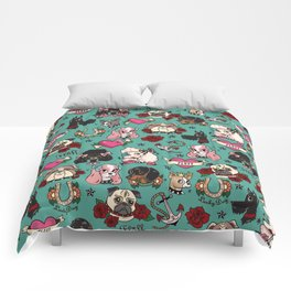 Tattoo Dogs Comforters
