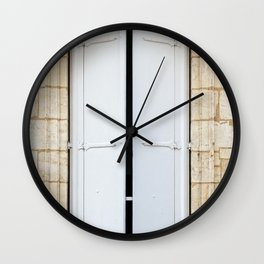 Old fashioned window with shutters Wall Clock