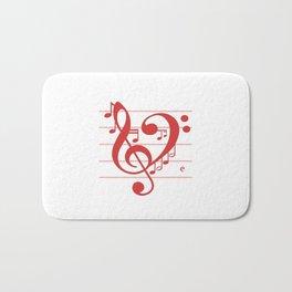 Love Music ~ Valentines Edition ~ Bath Mat