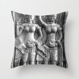 Cambodian Erotic Goddesses Throw Pillow