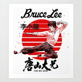 """Bruce """"The little Dragon"""" Lee By La Brea Art Print"""