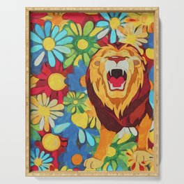 FlowerPower Lion Serving Tray