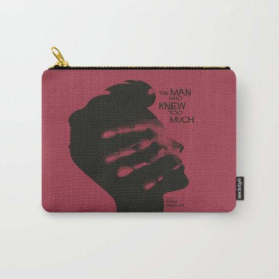 The Man who Knew Too Much - Alfred Hitchcock Movie Poster Minimal Carry-All Pouch