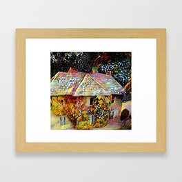Old house in Bourton on the Water Framed Art Print
