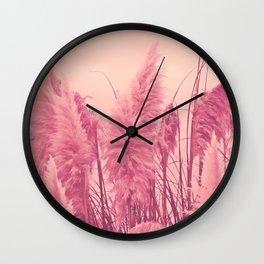 Pampas pink Wall Clock