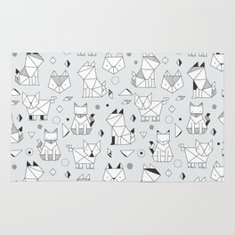 Origami cats Rug