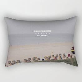 Collect moments, not things. Rectangular Pillow