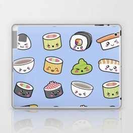 Happy kawaii sushi pattern Laptop & iPad Skin