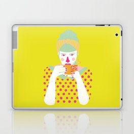 a cup of tea a day Laptop & iPad Skin