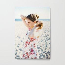 Beach Hair Metal Print