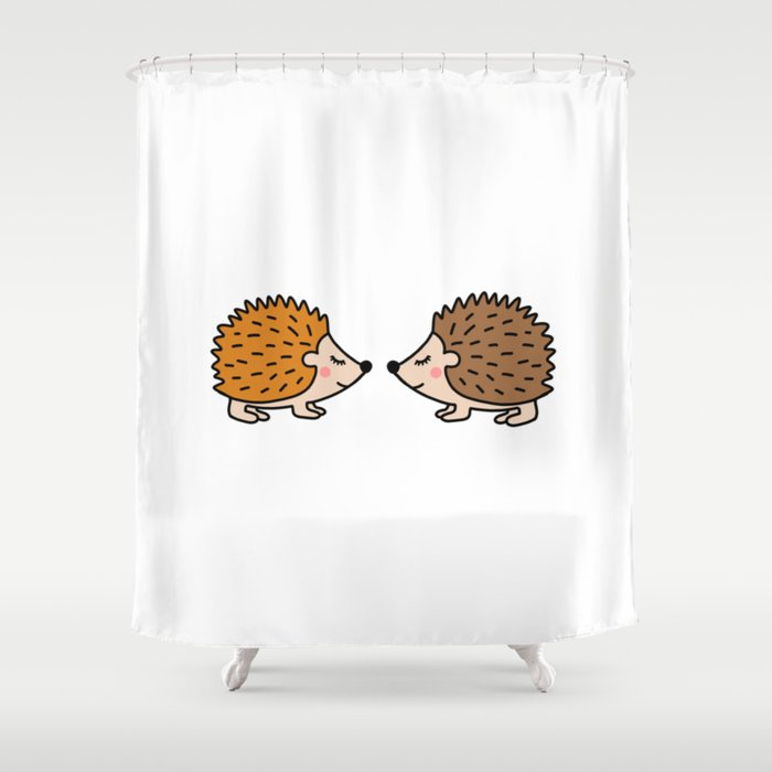 Cute Hedgehog Shower Curtain