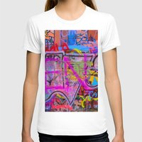 grafitti T-shirts featuring Bright Grafitti by davehare