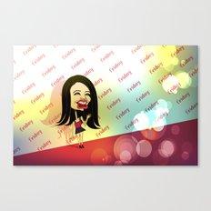 Rebecca Black Hits the Red Carpet Canvas Print