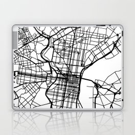 PHILADELPHIA PENNSYLVANIA BLACK CITY STREET MAP ART Laptop & iPad Skin
