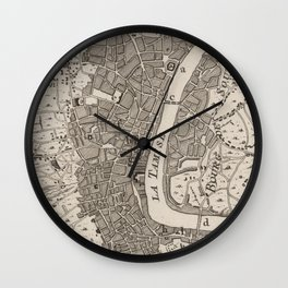 Vintage Map of London England (1764) Wall Clock