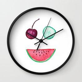 Happy Fruit II Wall Clock