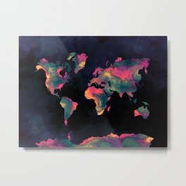 world map 74 Metal Print