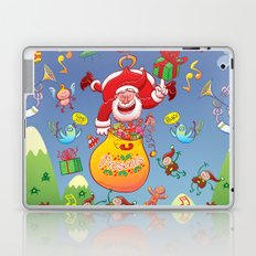 Santa has a Zeppelin to Deliver Christmas Gifts Laptop & iPad Skin