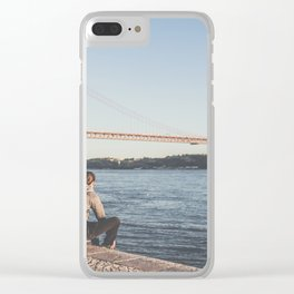 SKATE AND ENJOY Clear iPhone Case