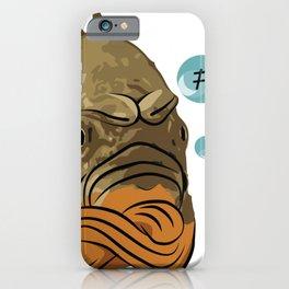 Grumpy fish iPhone Case