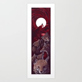 Heartless Foxes (without title) Art Print