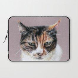 Cat portrait colored pencils Laptop Sleeve