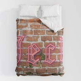 """Jeck - Brick - Red - Cologne Dialect 4 """"Crazy, Mad, Loco"""" Comforters"""