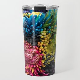 Rainbow Growth, Nature, Mushrooms, Corals on Tin Can Travel Mug